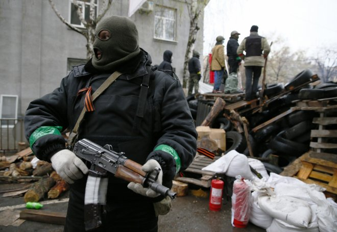 Armed man in eastern Ukraine