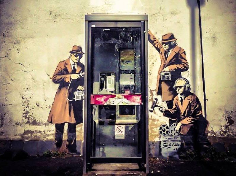 Banksy Cheltenham Mural Pokes Fun at GCHQ