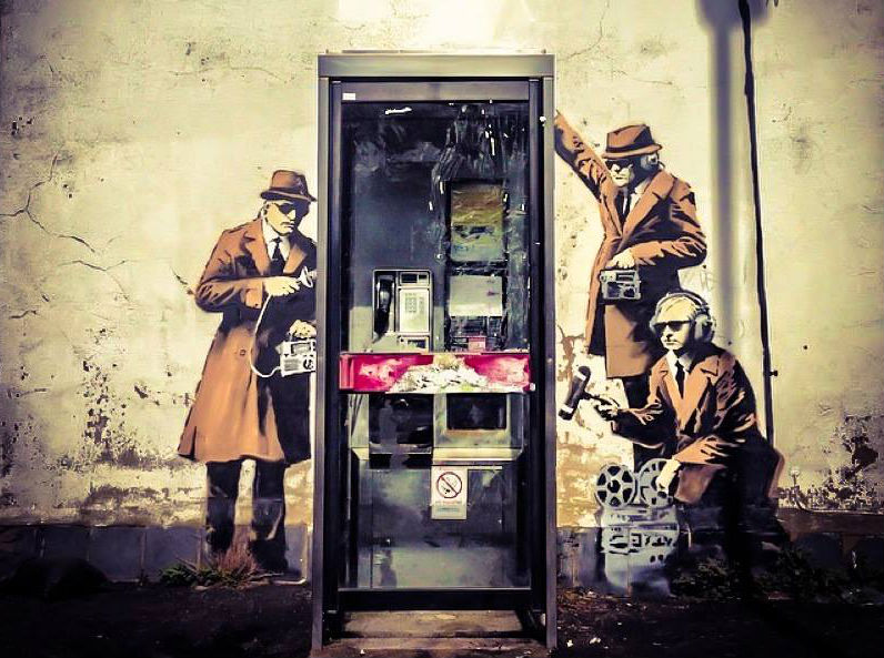 Banksy Cheltenham Mural Pokes Fun at GCHQ