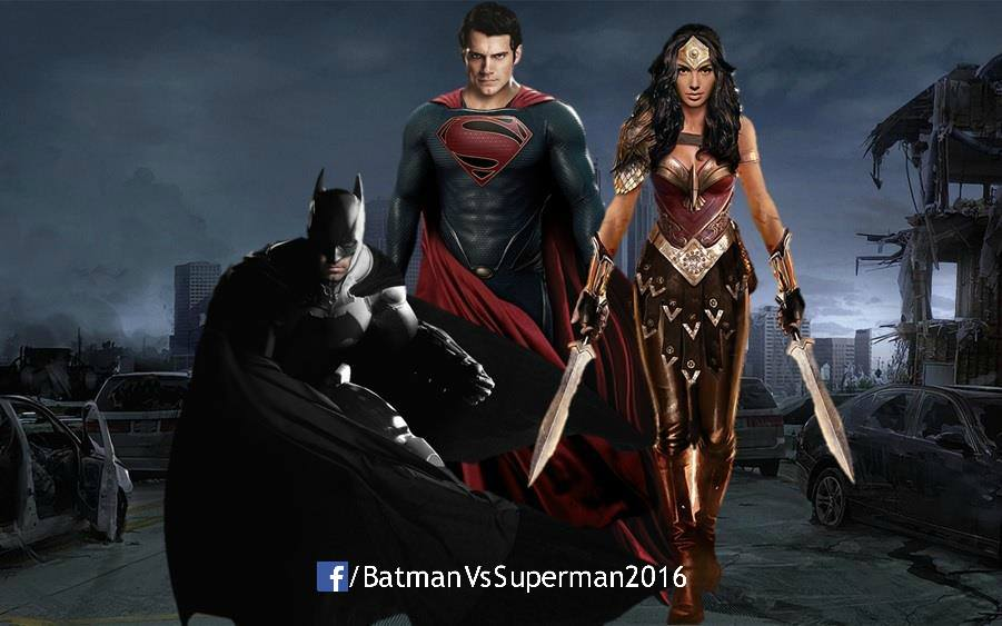 fan made image of Batman, Superman and Wonder Woman