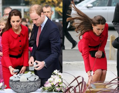 Kate Middleton during Royal Tour 2014