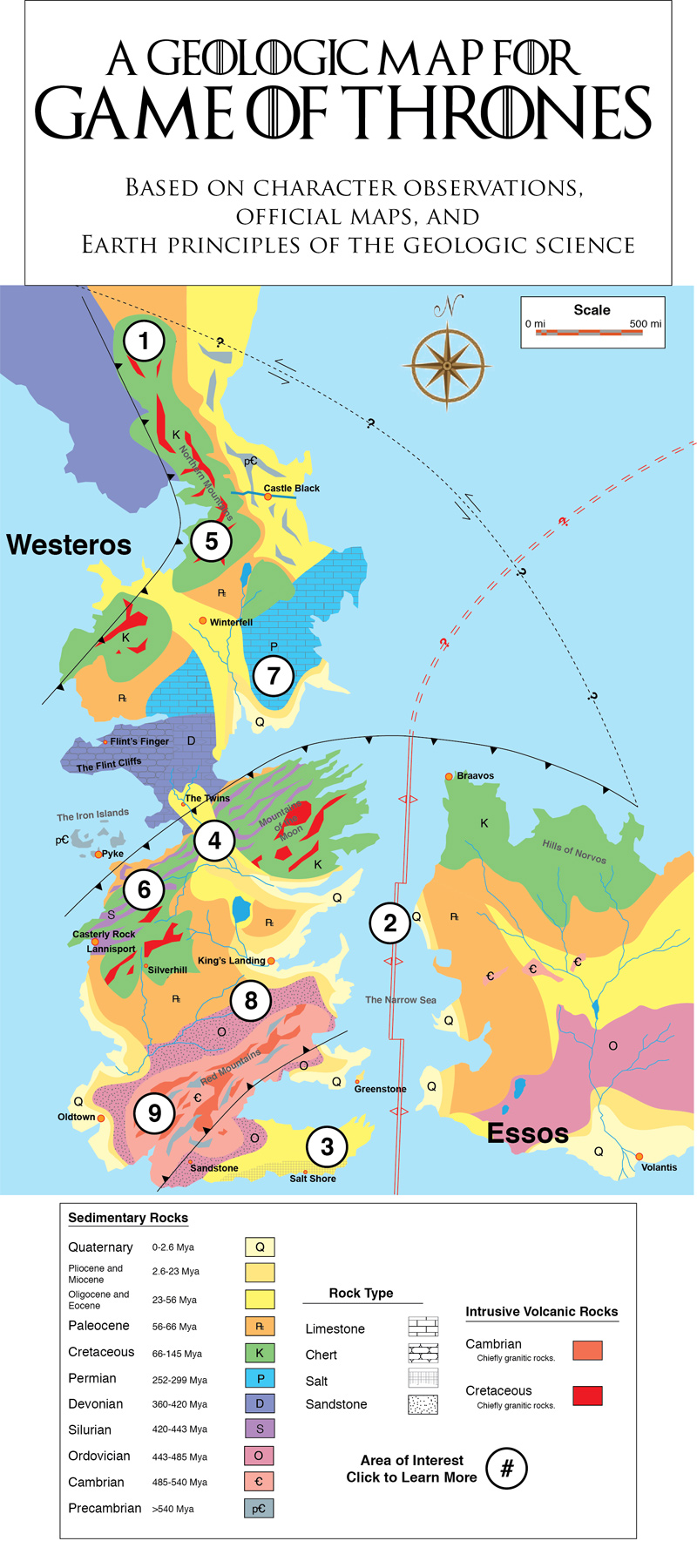 A Geologic Map for Game of Thrones