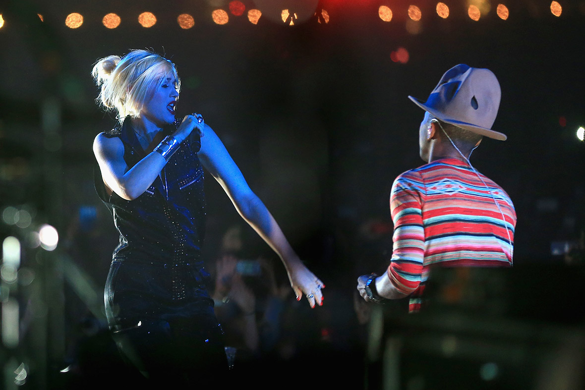 Gwen Stefani and Pharrell Williams