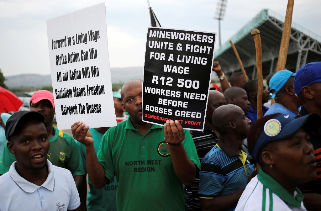 AMCU Rustenburg South Africa