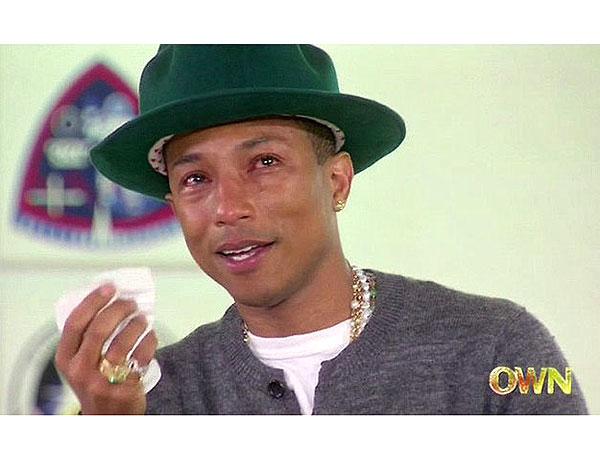 Pharrell Williams Cries Happy Tears During Oprah Winfrey