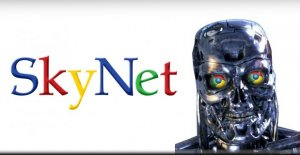 Google imagined as the evil Skynet system in Terminator