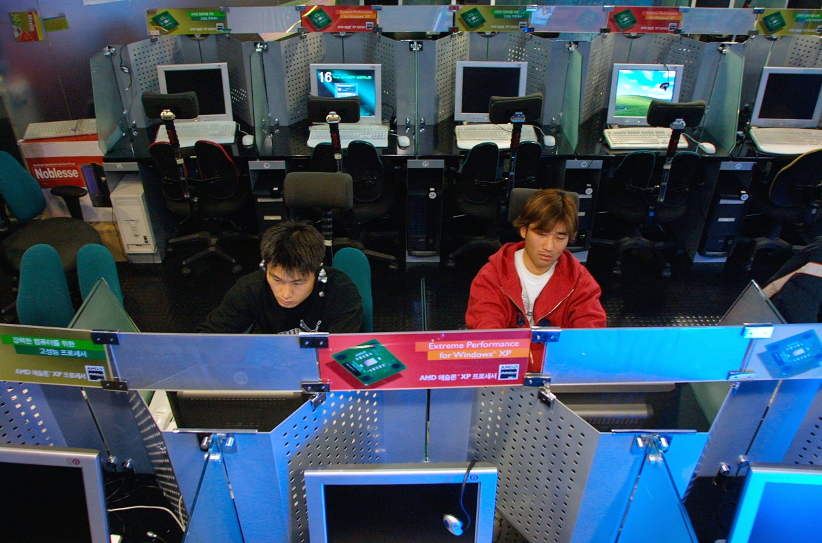 An internet cafe in South Korea