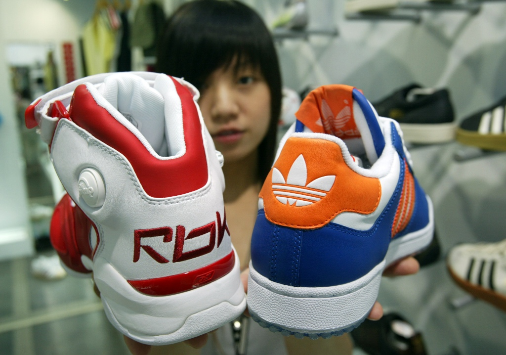 Adidas Stock Jumps on Report of $2.2bn Bid for Reebok