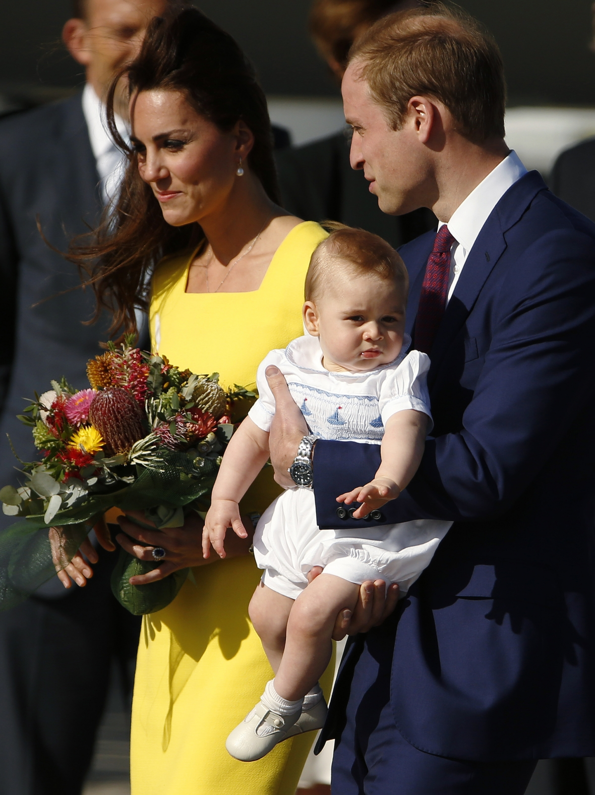 William, Kate and George Arrive in Australia