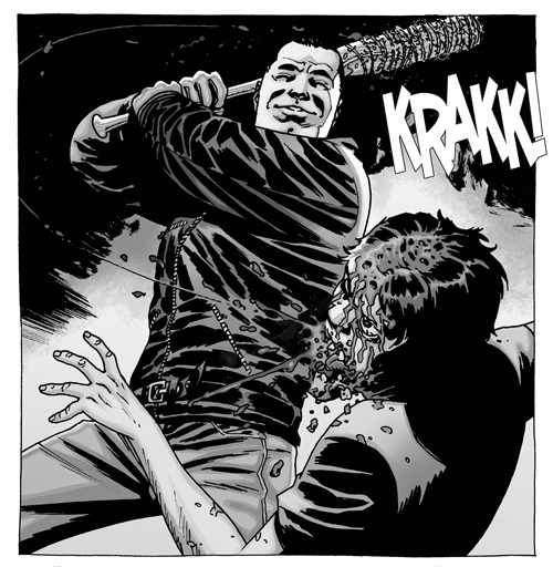 Negan from the The Walking Dead comic book