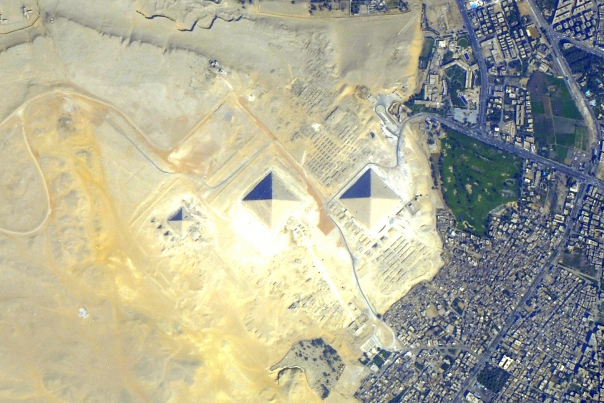 Pyramids at Giza, Egypt