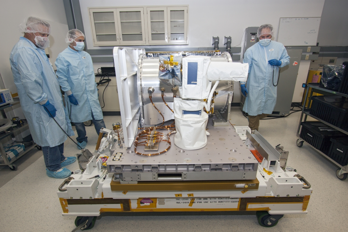 The Optical Payload for Lasercomm Science (OPALS) system being prepared for the mission