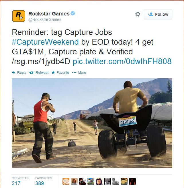 GTA 5 Online: Rockstar Extends Double Money and RP Bonus Period for Capture Jobs