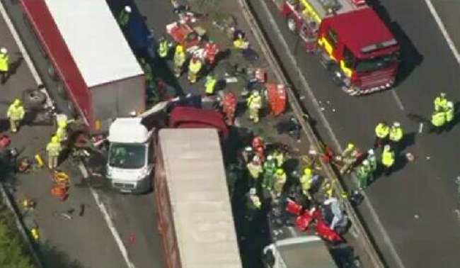 Arrest in M26 crash probe after two people died in motorway pileup in Kent