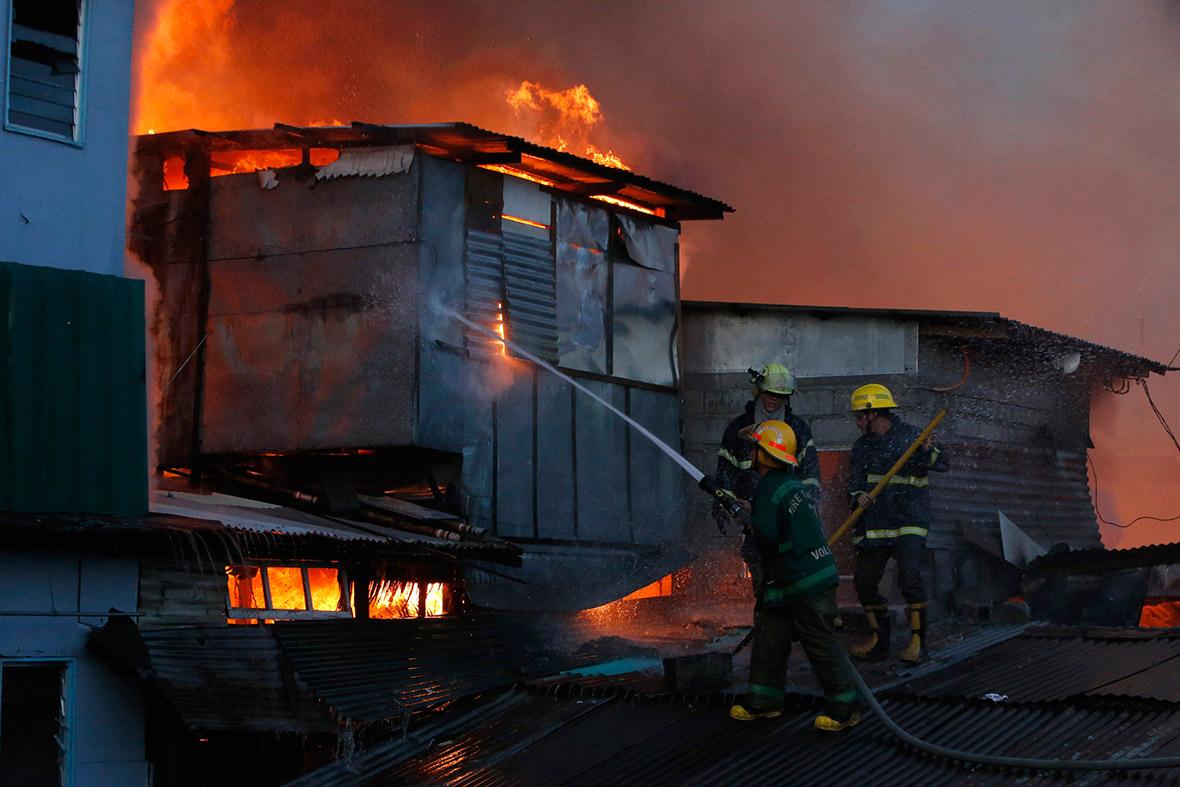 slum fire
