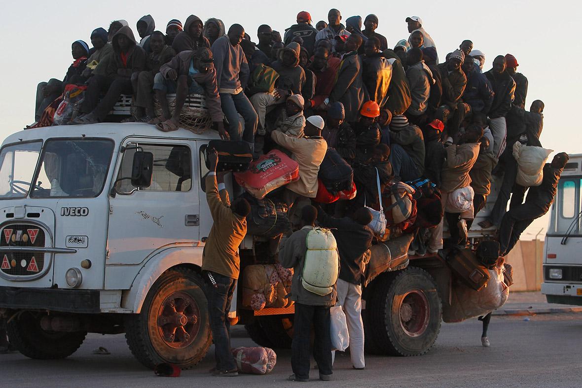 workers flee