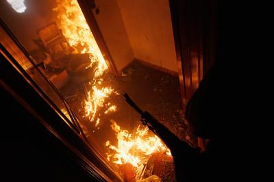 libya flames