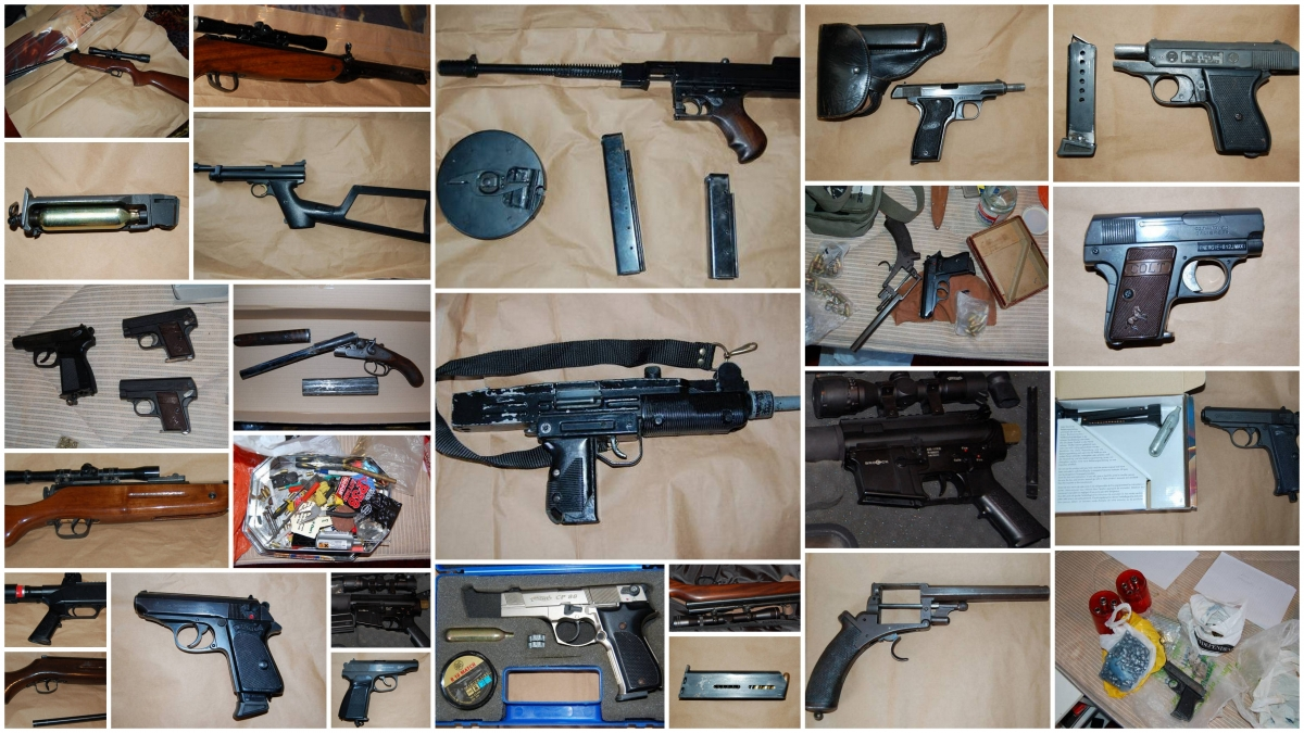 Police seized a huge haul of firearms from a house in Leyton, east London
