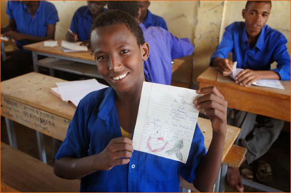Somali child refugee