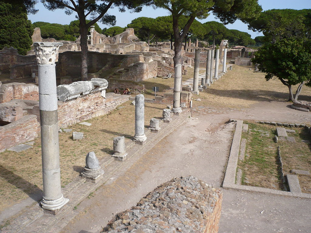 Ruins of the Capitolium at the ancient Roman harbour of Ostia