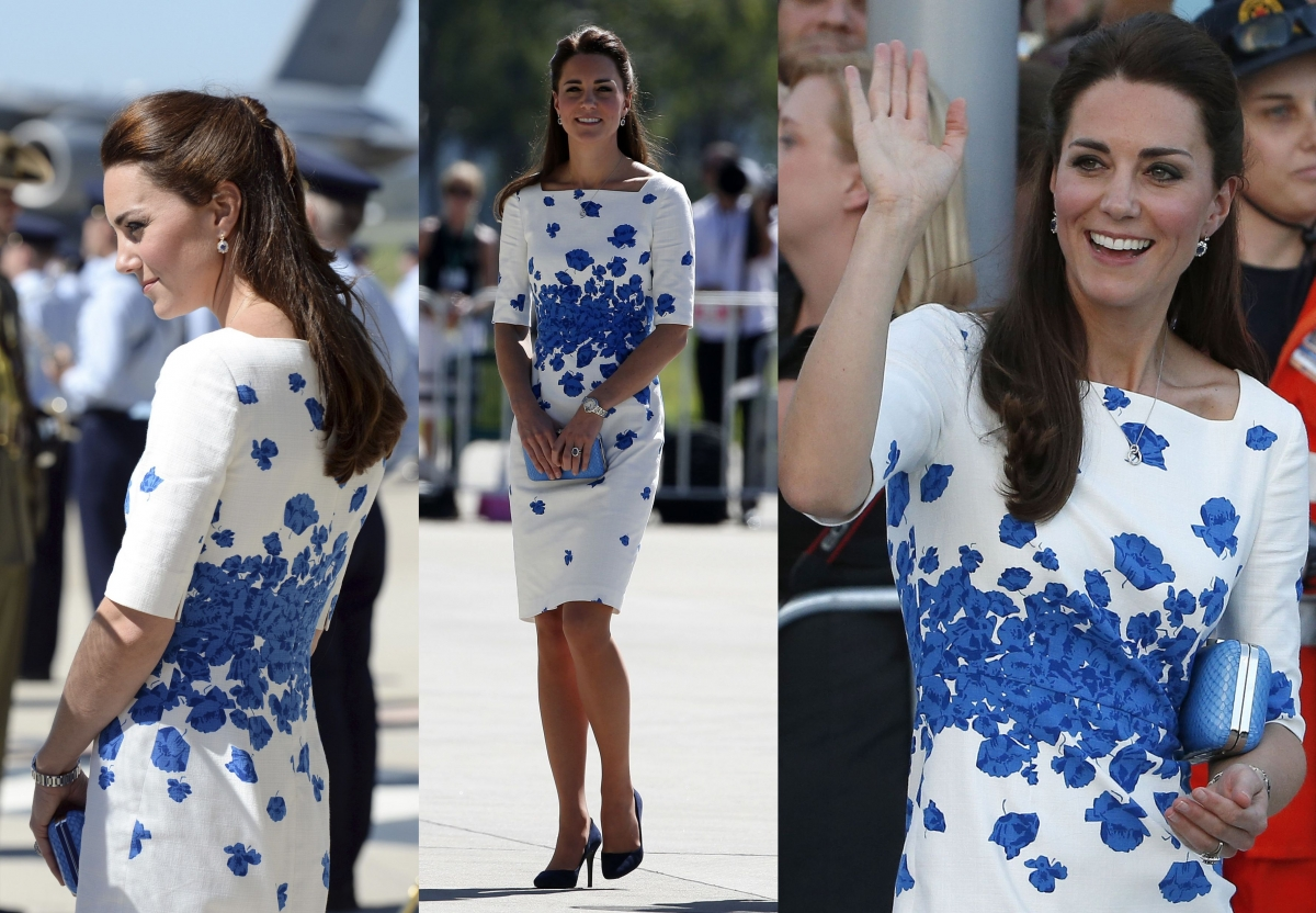 1117417388bc Kate Middleton Takes Australia in Style with Bright Summer Dresses