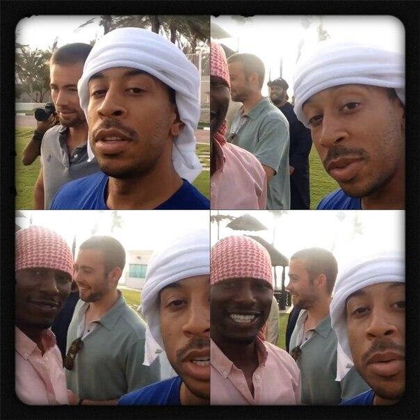 Paul Walker's brothers with Ludacris and Tyrese Gibson