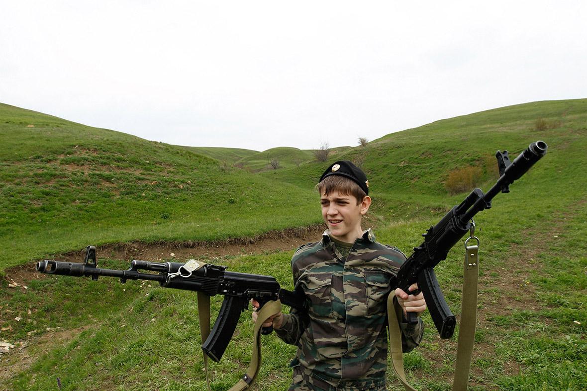 boy two guns