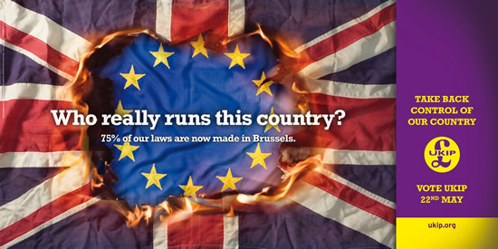 Ukip EU election poster