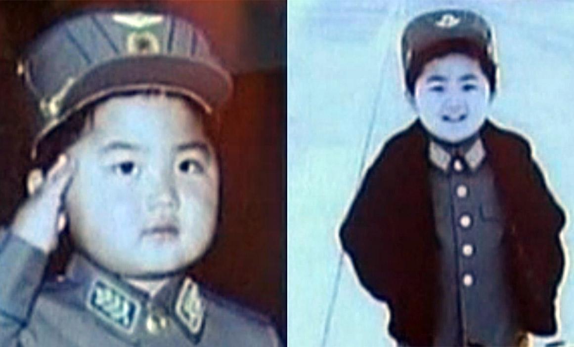 Kim Jong-un as a child