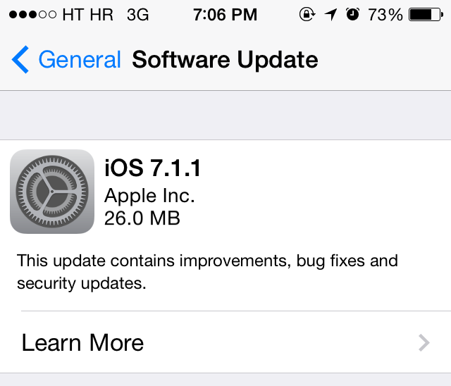 iOS 7.1.1 Brings Touch ID Improvements, Bug-Fixes and Security Updates (Download and Install)