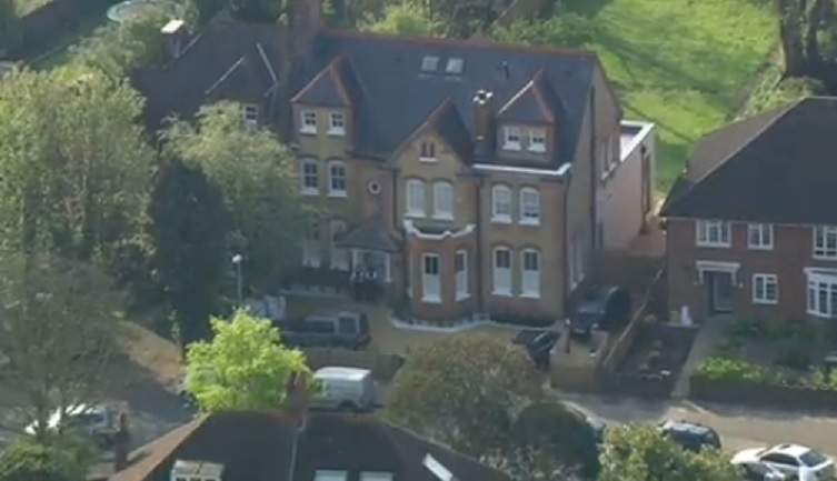 This is the house in which three children have been found dead, with reports suggesting they had learning difficulties