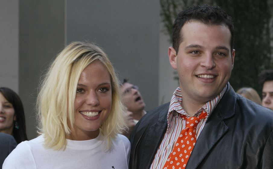 American actor Daniel Franzese has announced that he is gay. He is seen with actress Agnes Bruckner at the premiere of Mean Girls in 2004.