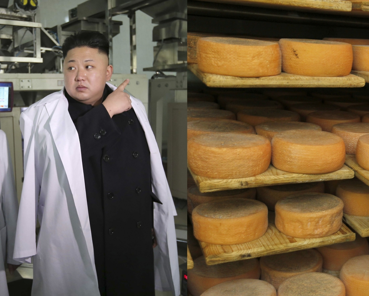 North Korean Kim Jong French cheese Emmental ENIL