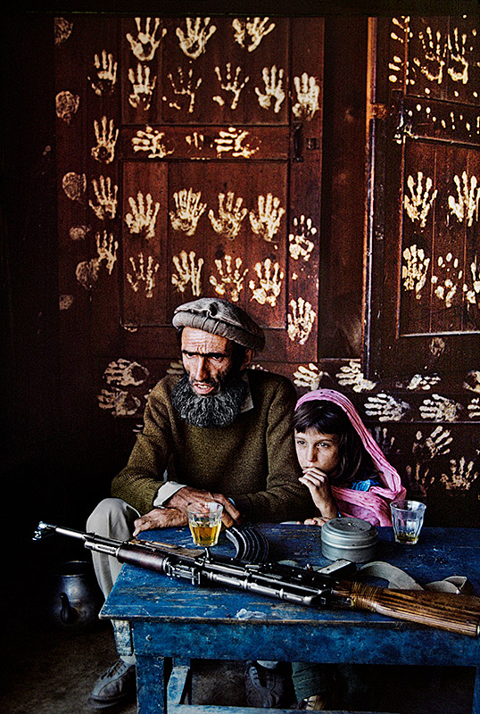Father and daughter at home in Nuristan, 1992