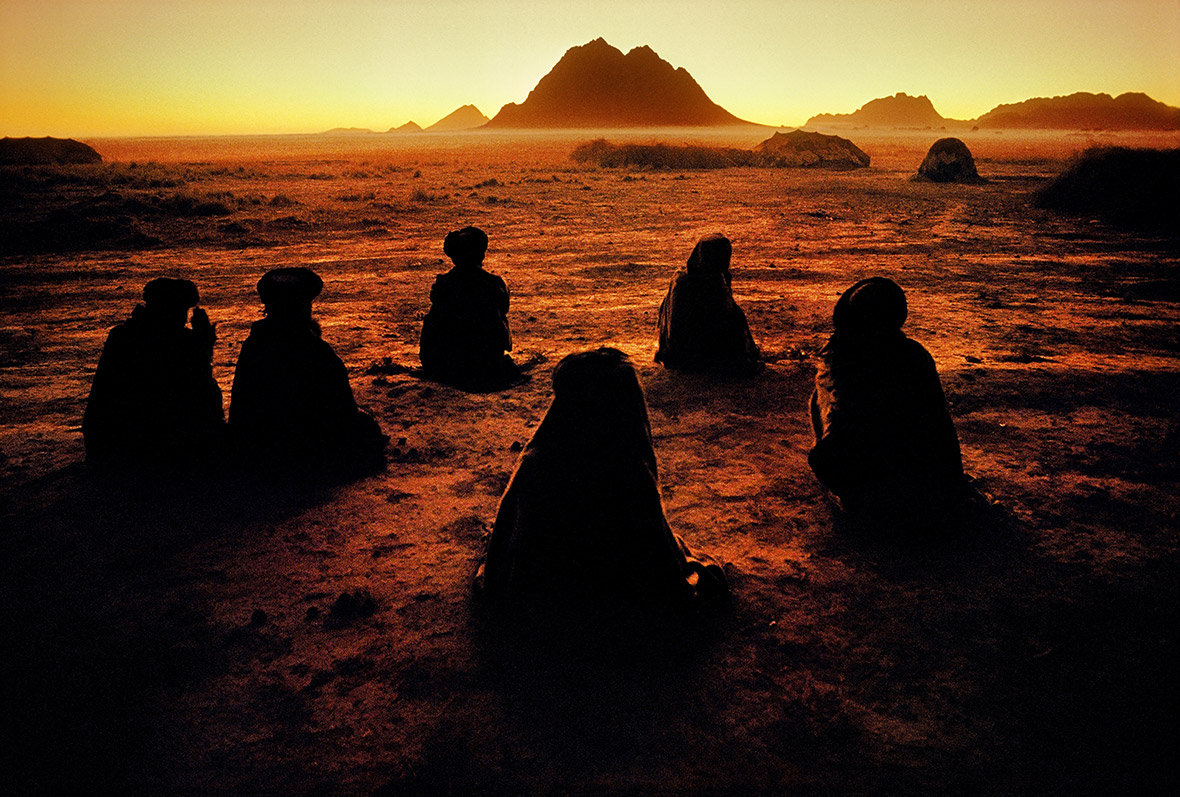 Kuchi nomads at prayer, 1992
