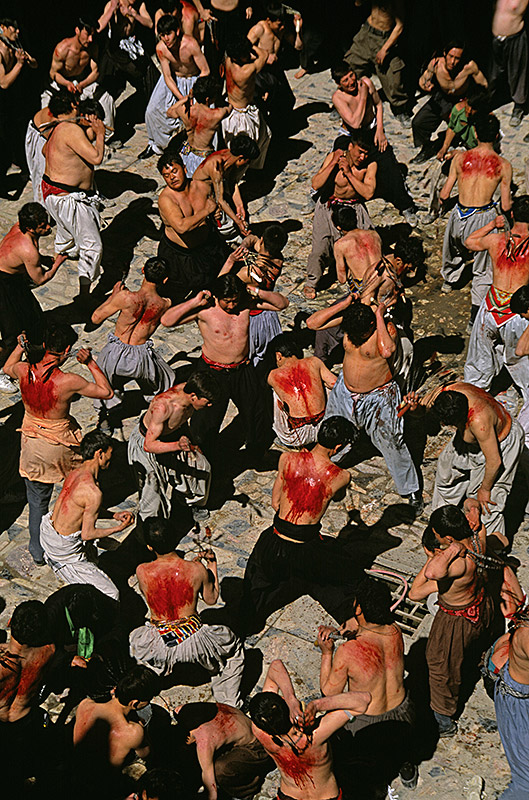 Shiite Muslims during Ashura, 2002