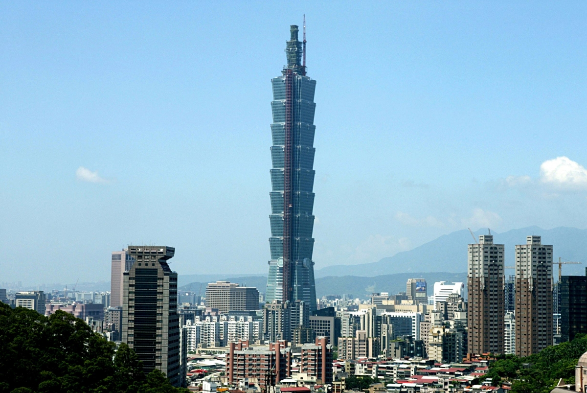 Taipei 101, aka the Taipei World Financial Center, in Taiwan