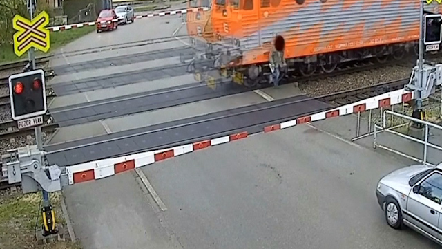 Czech Pensioner Hit by a Train but Escapes Injury