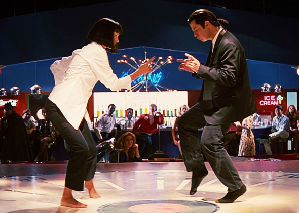 John Travolta and Uma Thurman in Pulp Fiction