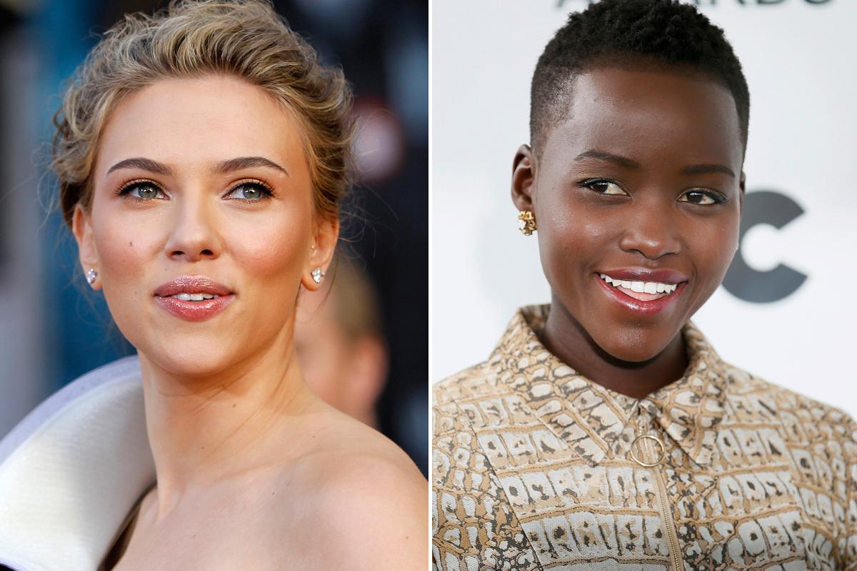 Lupita Nyong'o Scarlett Johansson