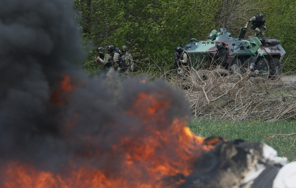 Ukraine News Five Pro-Russian Separatists Killed By Kiev Troops in Sloviansk
