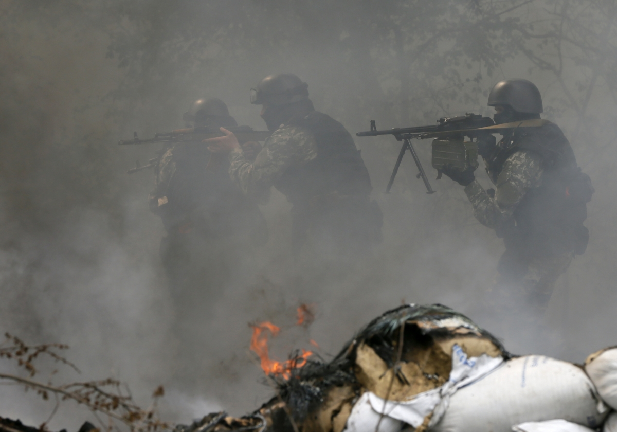 Pro-Russian Separatists Killed Kiev Troops in Sloviansk eastern Ukraine