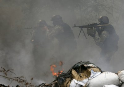 Pro-Russian Separatists Killed Kiev Troops in Sloviansk eastern Ukraine