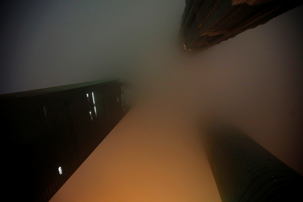China Air Pollution Shanghai Skyscrapers