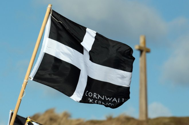 St Piran flag Cornwall