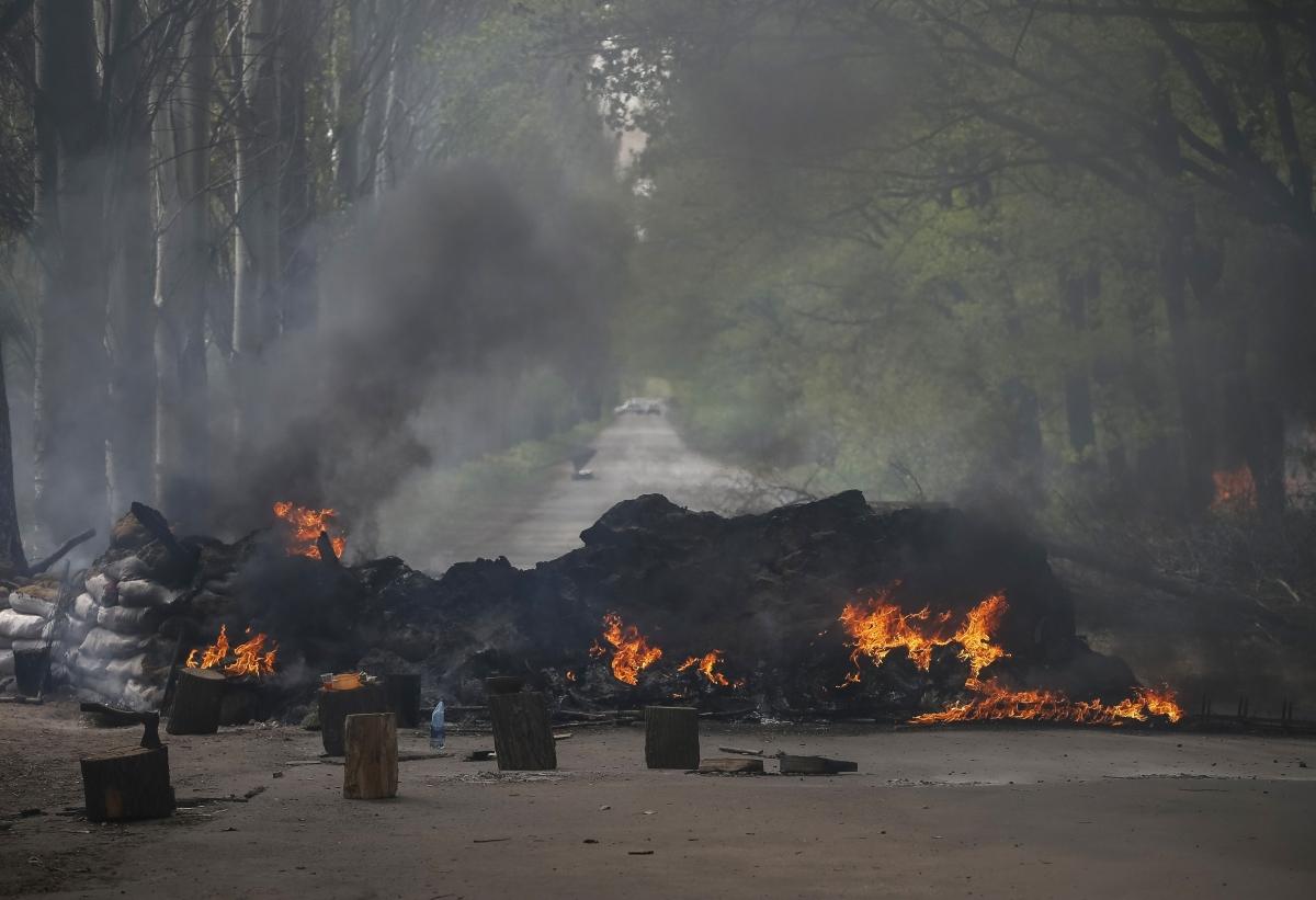 Slaviansk on Fire as Ukraine Forces Kill Five Rebels