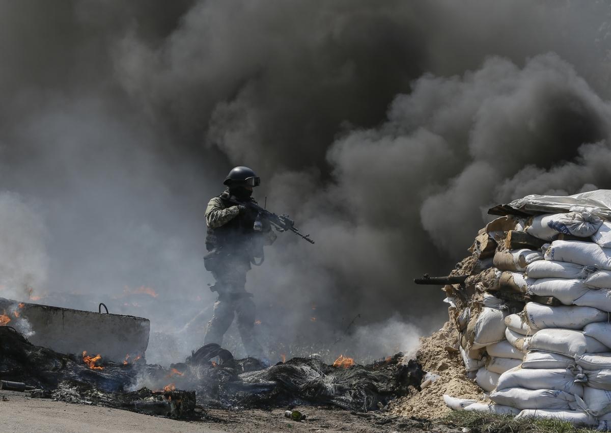 slaviansk checkpoint battle ukraine 1
