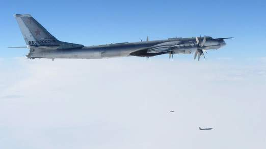 Russian Bombers near British Airspace