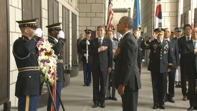 President Obama Pays Tribute to Korean War Dead