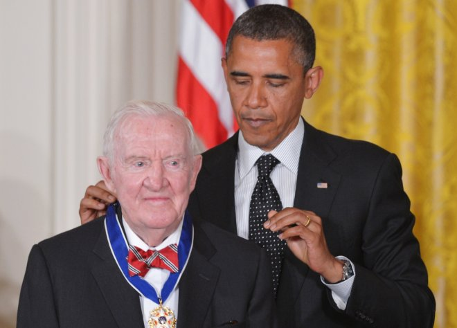 Free the Weed advocate John Paul Stevens receives  Presidential Medal of Freedom from President Barack Obama